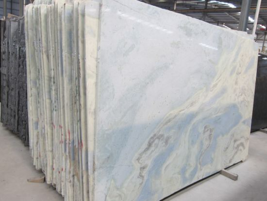 The Optical Stone Lumen Blue Decoration Material Silk Georgette Marble
