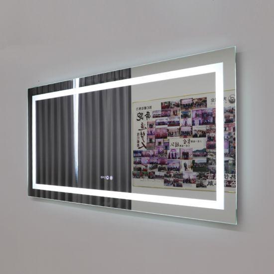 Luxury Wall Mounted Anti-Foggy IP44 Multi Function Smart Bath Room LED Mirror China Supplier