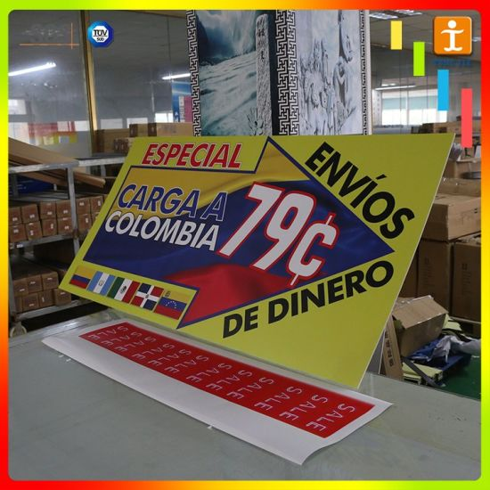Custom Printing Acrylic Price Sign Board Designs for Shops pictures & photos