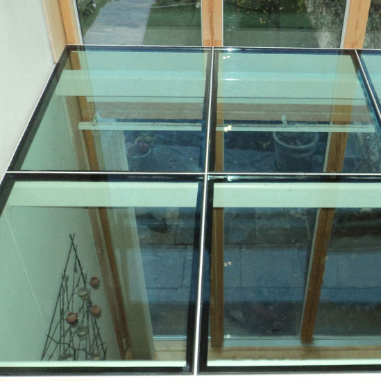 Flooring Glass For Walkway Floor, Laminated Glass Flooring