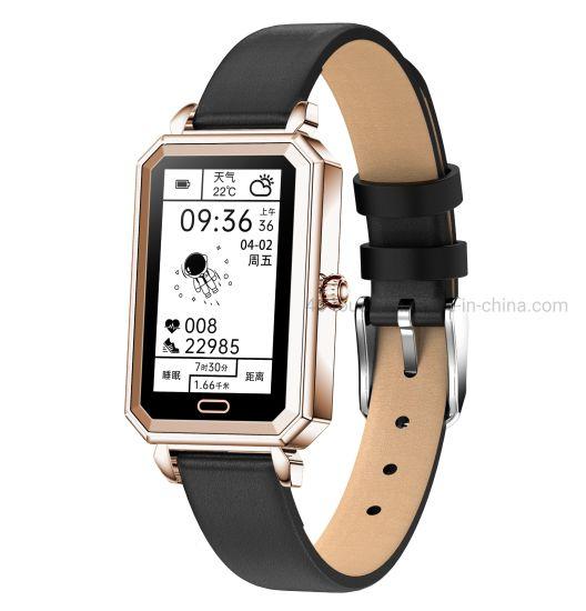 IP68 Waterproof Female Bluetooth Sport Wrist Watch Smart Bracelet with Heart Rate HT2