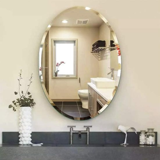 China Factory Stylish Oval 4mm Beveled Mirror Frameless Wall Mounted For Home Decoration Vanity Bathroom Mirror China Home Products Rectangle Framed Mirror