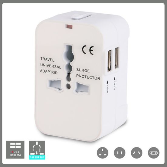 Gift Universal USB Travel Adaptor Electric Worldwide Travel Charger Adapter