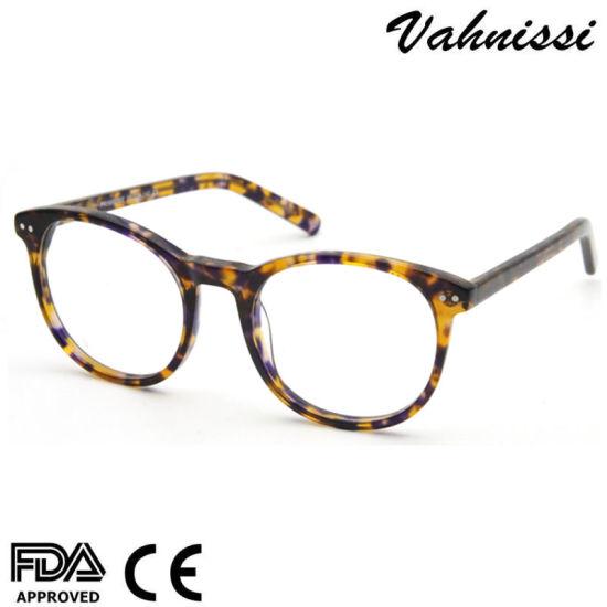 2020 Hot Sales Amazon Design Brown Tortoise Acetate Eyewear Frames for Women, Men