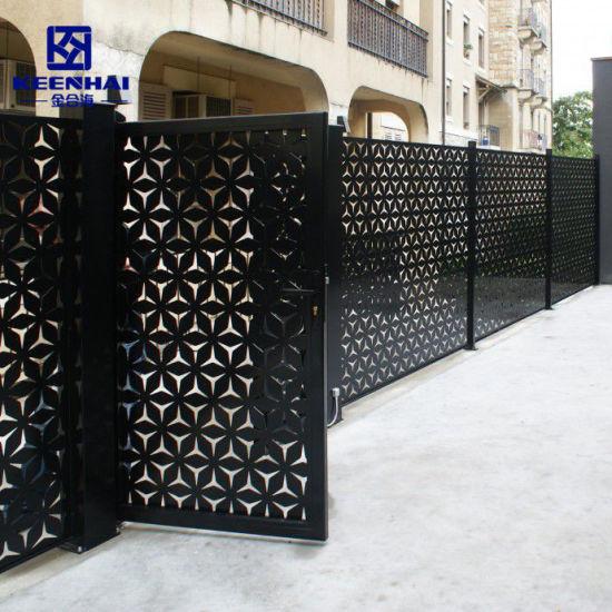 Customized Laser Cut Outdoor Metal Garden Fencing (KH-BH-AP-005)