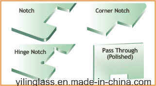 Notched Glass Panel for Inside Outside Door pictures & photos