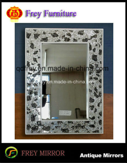 China Popular Wooden Framed Mirror With Mosaic Design China Mirror