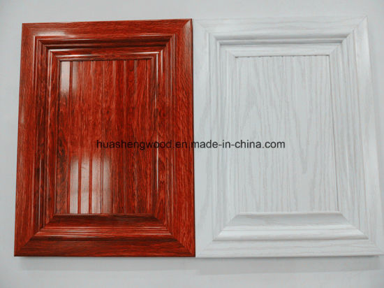 China European Style Pvc Membrane Mdf Cabinet Door For Furniture