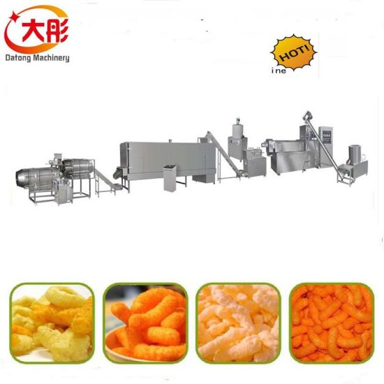 Twin Screw Puff Snacks Food Machine Price pictures & photos