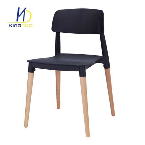 Replica Modern Italian Design Wood Legs Backrest PP Plastic Dining Chair