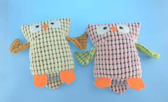 Plush Pet Toy Owl with Squeaker pictures & photos