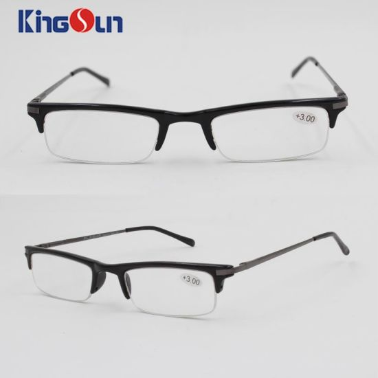 Plastic Frame with Metal Temple Reading Glasses