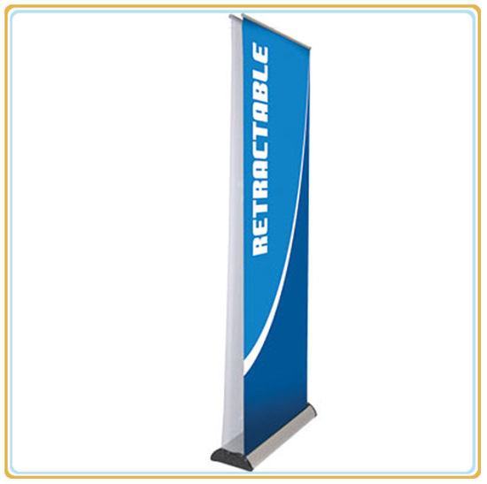 China DoubleSided Retractable Roll Up Banner Stand Pop Up Display Custom Pull Up Display Stands