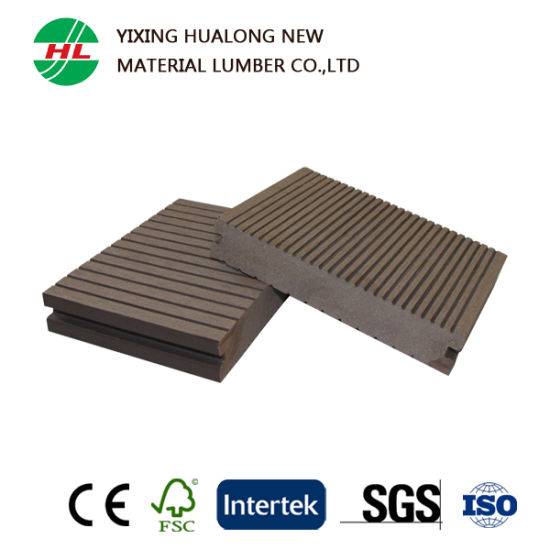 Wood Plastic Composite Solid Decking (M122) pictures & photos