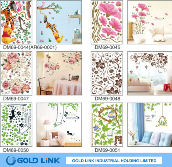 china non-damage wall face pvc wall decal sticker - china wall