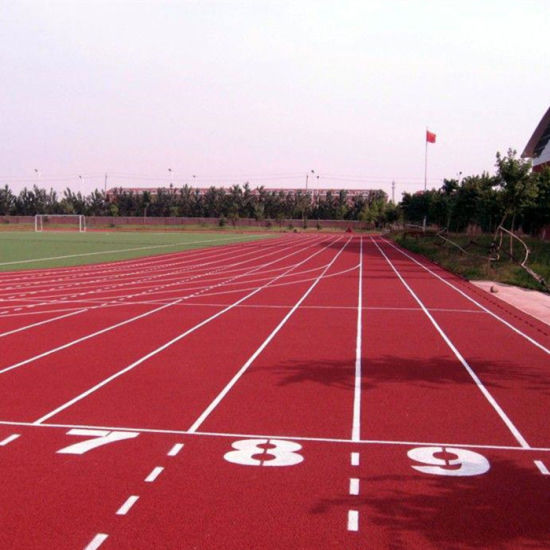 Synthetic Athletic Running Track/Plastic Rubber Racetrack Sports Field/Runway Surface Flooring