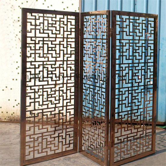 Elegant Factory Customized Indoor And Outdoor Decorative Metal Screen Partition  Stainless Steel Divider Screen Door