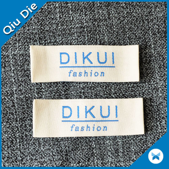Rectangle OEM Country Origin Woven Label for Clothing pictures & photos
