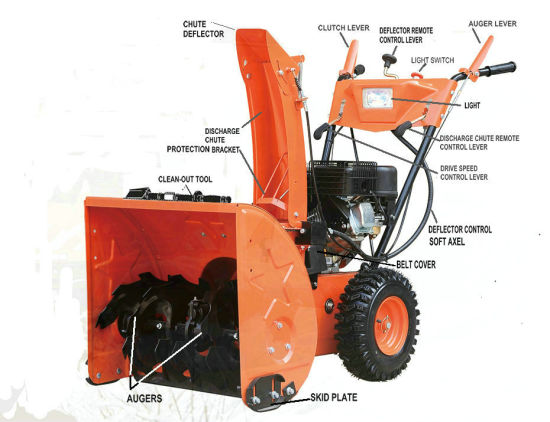 11HP 337cc Gas Snow Thrower pictures & photos