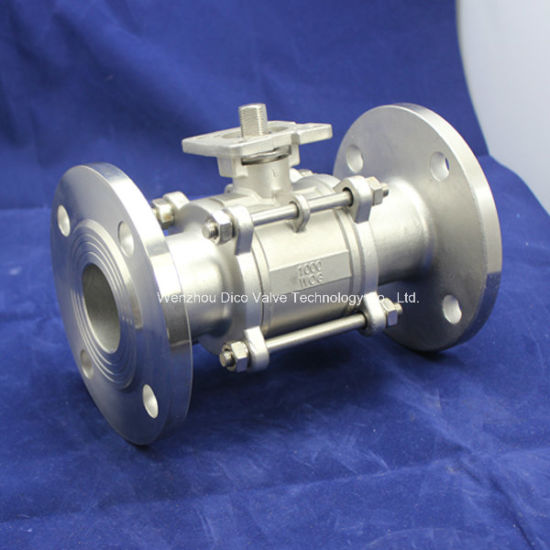 Mounting Pad 3PC Flange Ball Valve with Locking Handle pictures & photos