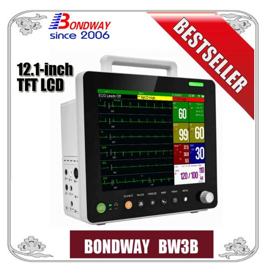 Patient Monitoring System, ECG Patient Monitor with Ce Mark, Hot Sale Portable Patient Monitor