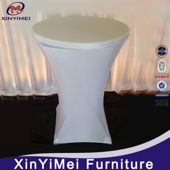 Wholesale White Spandex High Bar Cocktail Table Cloth for Wedding pictures & photos