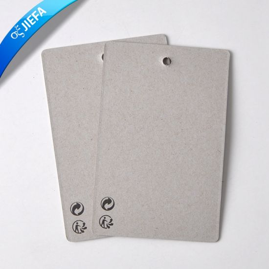 Brand Grey Cardboard Paper Swing Tag/Hang Tag pictures & photos
