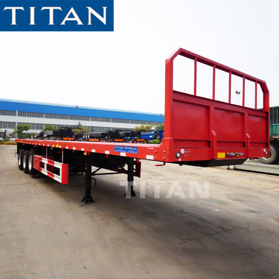 Titan 20 Foot 40FT Flatbed Trailer of 40 Ton Capacity