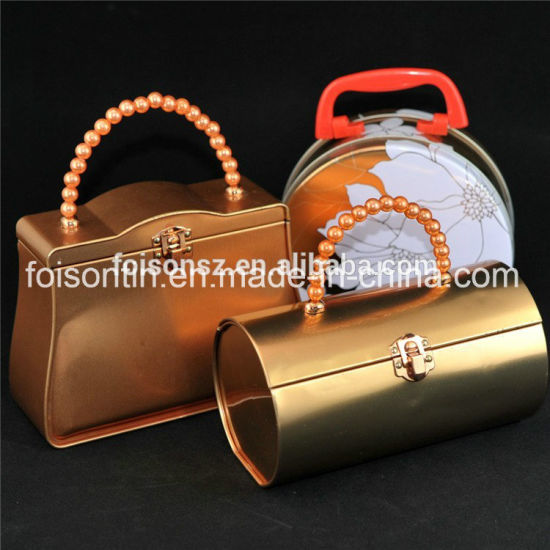 Handbag Shape Tin Storage Candy Box with Food Grade Tins pictures & photos