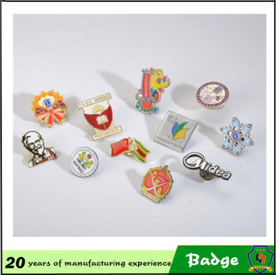 Customized Gold Metal Pin Badges pictures & photos