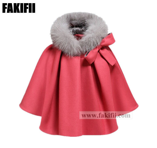2021 New Design Winter Wholesale Children Apparel Kids Wear Cloak Girls Wool Coat Baby Clothes pictures & photos
