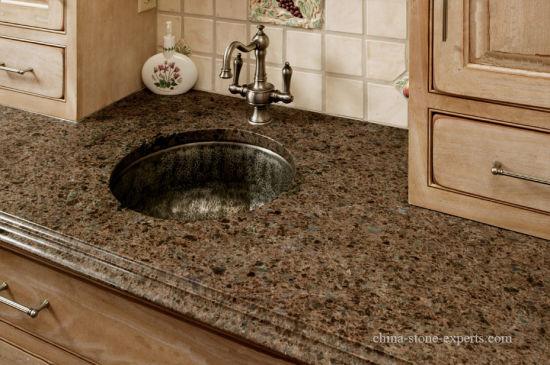 Incroyable Labrador Antique Blue Crystal Brown Granite Kitchen Countertop (YY MS197)
