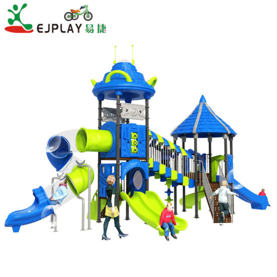 LLDPE Plastic Galvanization Large Outdoor Playground