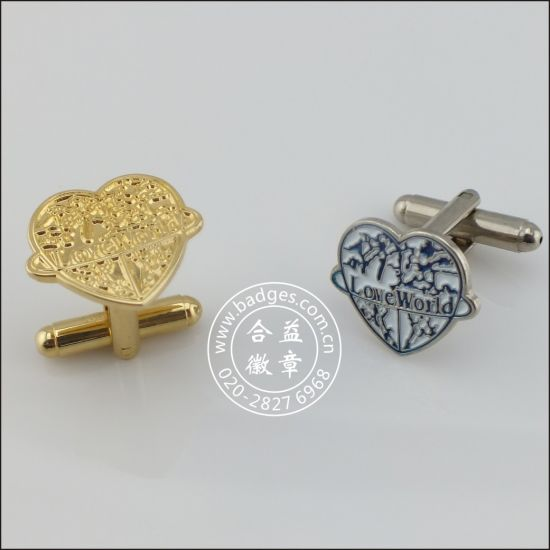 Customized Cufflink, Face Shape Metal Cufflink (GZHY-KA-030) pictures & photos