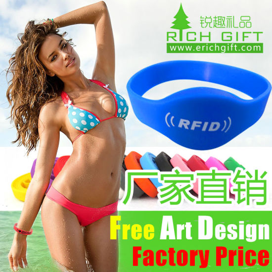 Printing/Embossed/Debossed Custom Silicone Wristband for Events pictures & photos