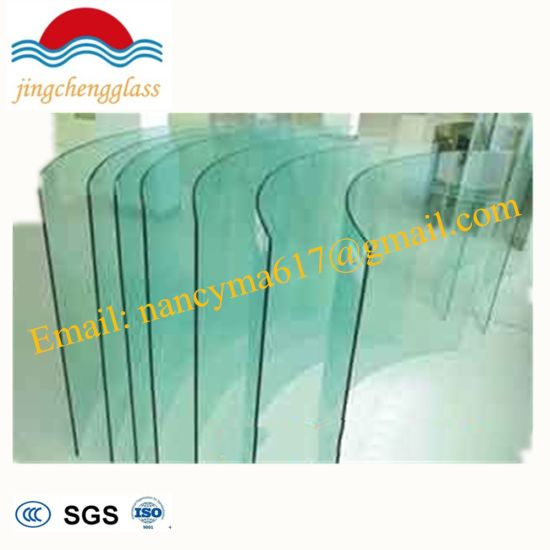 456f736169e1 10 mm Clear Bent Toughened Building Curved Tempered Glass with SGS ISO CCC  Cert
