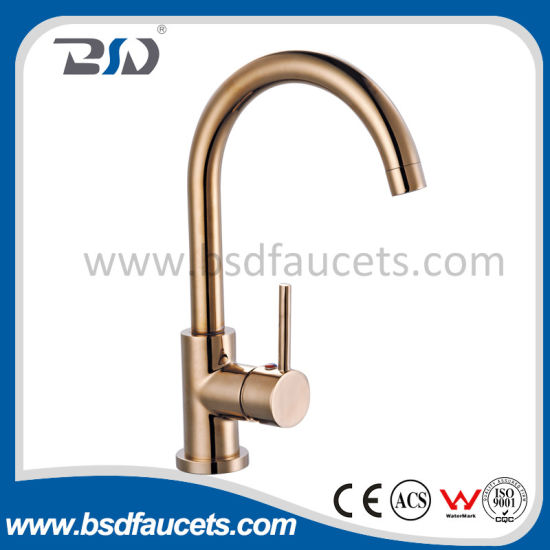 Mounted Brass One Handle Kitchen Faucets Mixer Colored Surface pictures & photos