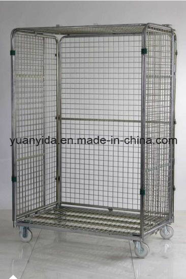 Folding Supermarket Storage Wire Mesh Roll Pallets/Roll Containers pictures & photos