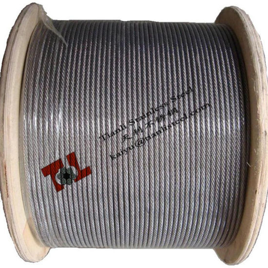 316 7X19 1/8 Inch 3.2mm Stainless Steel Wire Rope pictures & photos