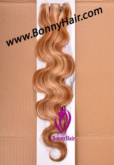 100% Virgin Remy Human Hair Skin Weft, PU Tape Hair Weft, Hand Tied Skin Weft, Body Wave, pictures & photos