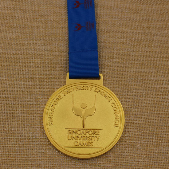 medallion half custom finisher medal marathon tyhxcilvhukw gold ribbons china productimage with sport