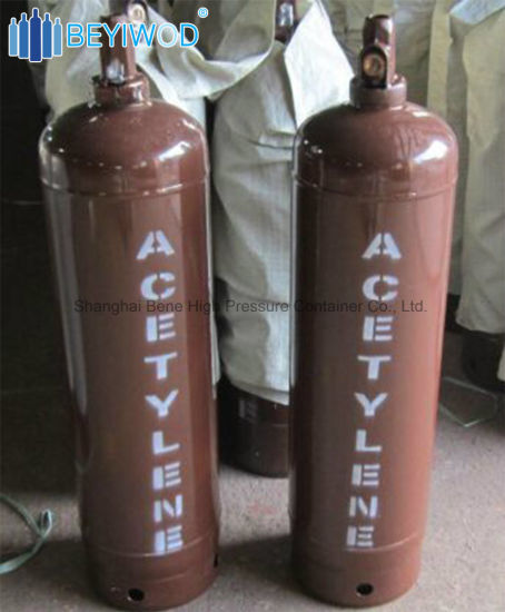 6 8kg 40L Acetylene Gas Cylinder with Acetone One Fusible Plug