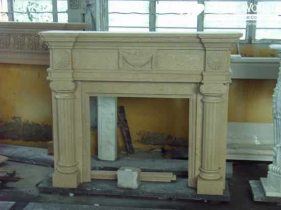 Granite/Marble Statue Fireplace Mantle/Mantels with Electric Fireplace for Indoor (SC034) pictures & photos