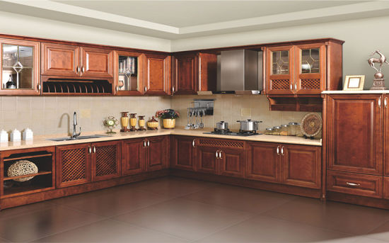 China European Design Metal Stainless Kitchen Cabinets Manufacturer