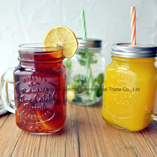 280ml Clear Ice Cold Drink Glass Mason Mug for Drinking pictures & photos