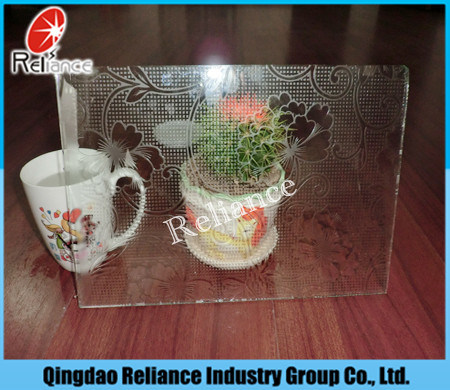 Acid Glass/Foggy Glass/Frosted Glass with Different Color pictures & photos