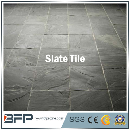 China Blackgreyyellowrusty Natural Stone Slate Floor Tile For