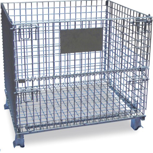 Stackable Folded Wire Mesh Container