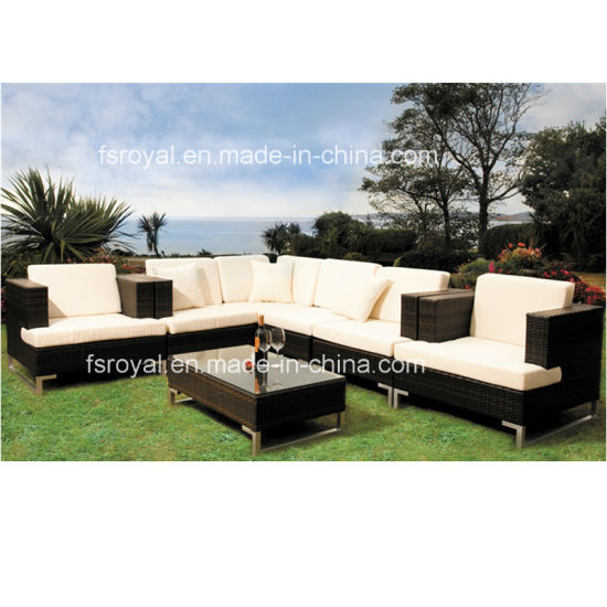 Leisure Hotel/Home Waterproof Modern Uphostery Rattan Sofa Set Lounge Chair Outdoor Garden Furniture pictures & photos
