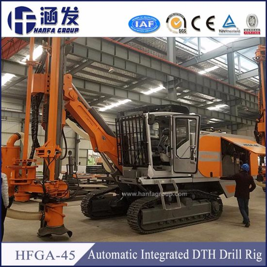 Hfga-45 Air Compressor Built-in Copper Mine Drilling Rig
